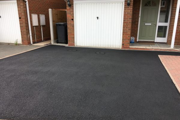 Driveway after coating application